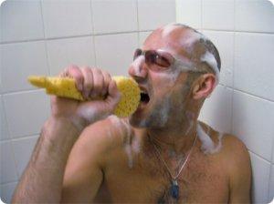 chanter sous la douche